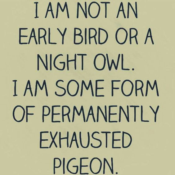 Reject labels. It's OK to be a permanently exhausted pigeon.