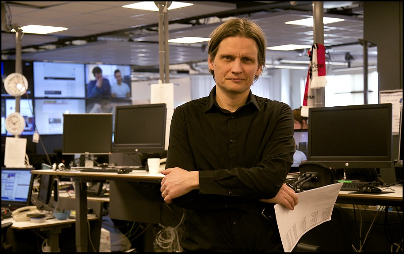 Per Hermanrud, investigation reporter for TV4 program Kalla Fakta - (© Lou Marillier)