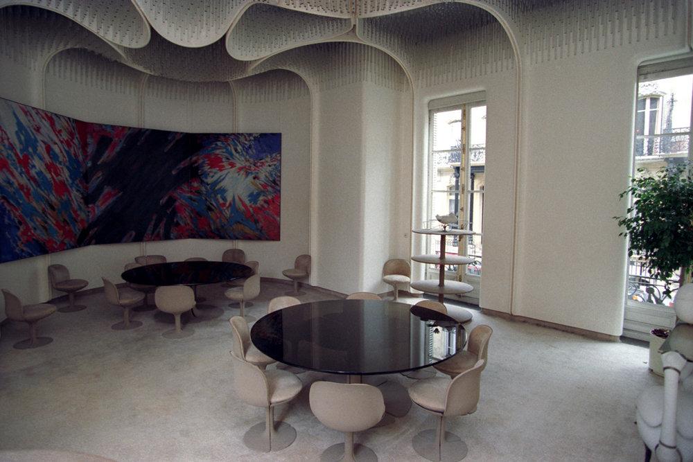 Le salon Paulin, commandé au designer éponyme par Georges Pompidou (Crédits : Élysée)