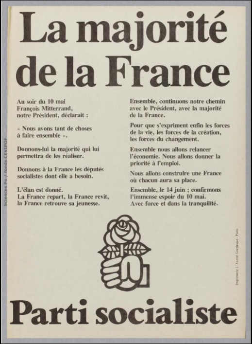 Législatives 1981 (Paris, 17e circonscription) : profession de foi du 1er tour