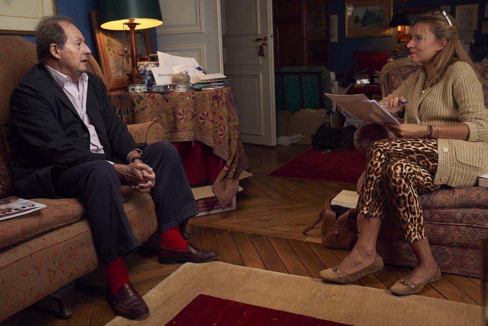 Jean-Marie Rouart et Anne-Sophie Beauvais   Photo : Manuel Braun