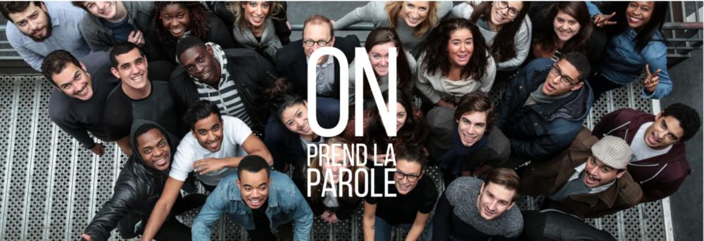 """Bertrand Périer, entouré de participants au programme """"Eloquentia"""" (Capture d'écran du site internet)"""