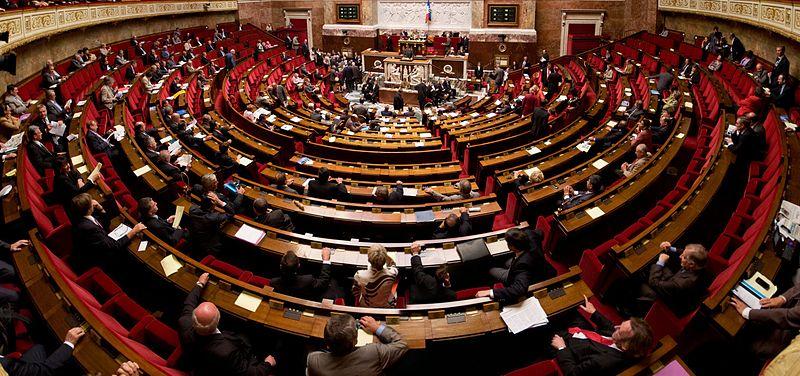 Hémicycle de l'Assemblée nationale   Photo : Richard Ying et Tangui Morlier