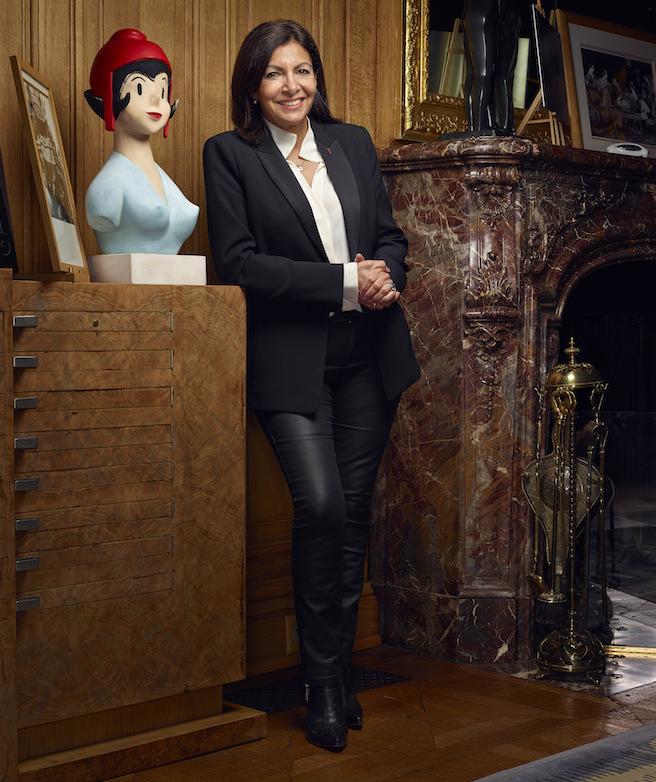 Anne Hidalgo dans son bureau à l'Hôtel de ville (Crédits photo:Manuel Braun)