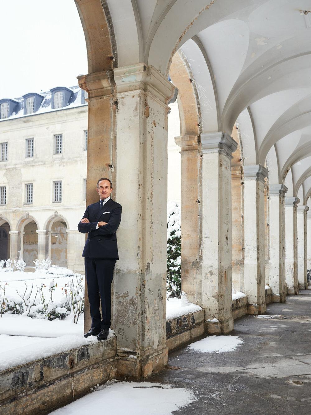 Hasard heureux de la météo, la séance photo de Frédéric Mion à l'Artillerie, en février dernier,s'est faite sous un épais manteau neigeux… ( Photo : Manuel Braun)