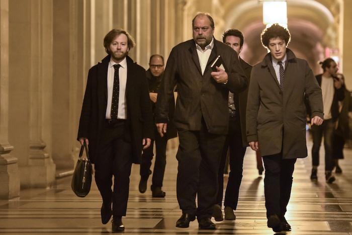 Antoine Vey, Eric Dupond-Moretti et Archibald Celeyron au Palais de justice de Paris, le 2 novembre 2017, jour du verdict du procès d'Abdelkader Merah - Crédit photo : AFP/Stéphane de Sakutin