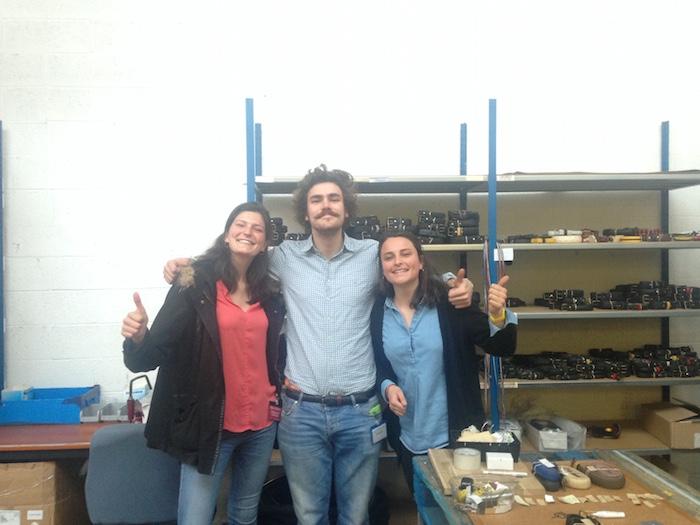 Rencontre avec Hubert Motte, fondateur de La vie est belt, une marque fabriquant des ceintures avec des pneus de vélos usés, près de Lille  Crédits photo: Premiers pas