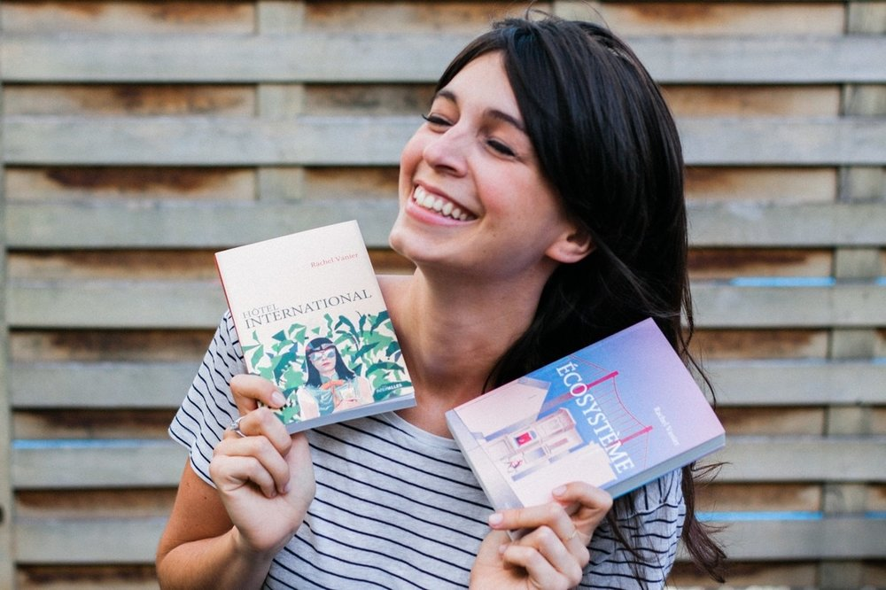 L'auteure de la fiction Rachel Vanier, également à l'origine d' Hôtel International  et  Écosystème    Crédit : Le Monde 2D
