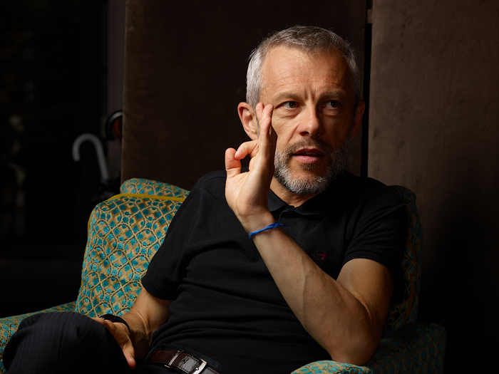 Pierre Mathiot interviewé par  Émile  (crédit : Manuel Braun)