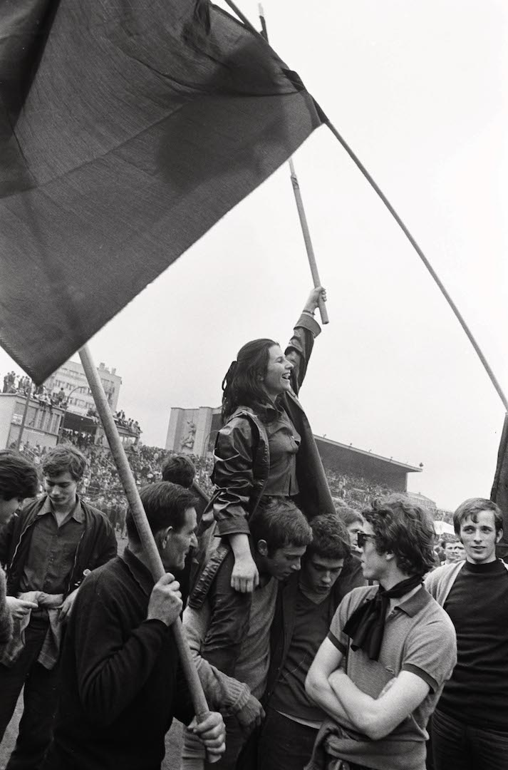 Stade Charléty, le 27 mai 1968 (Crédit photo : Gilles Caron / Fondation Gilles Caron, Clermes