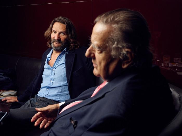 Frédéric et Jean-Michel Beigbeder interviewés par  Émile Magazine  (crédits photo : Manuel Braun)