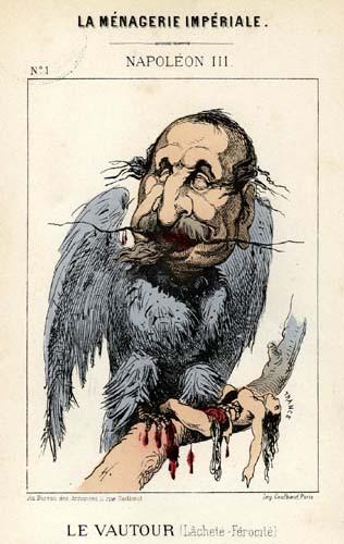 Caricature de Napoléon III