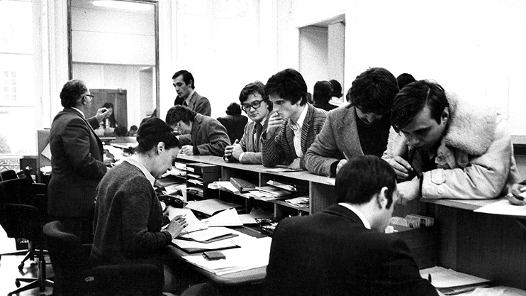 Sciences Po, 1979, Bureau des inscriptions.