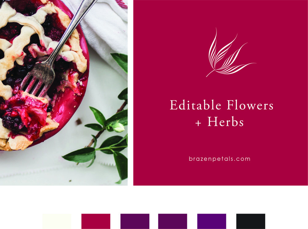 Editable Flowers and Herbs, Brazen Petals