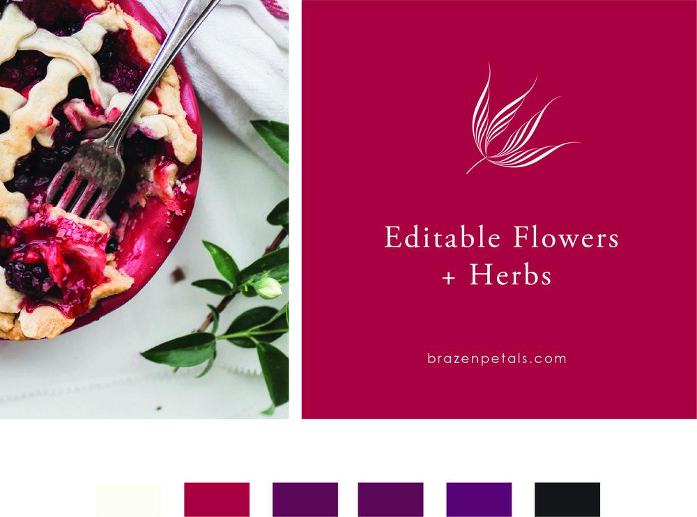 Editable Flowers and Herbs, Brazen Petals