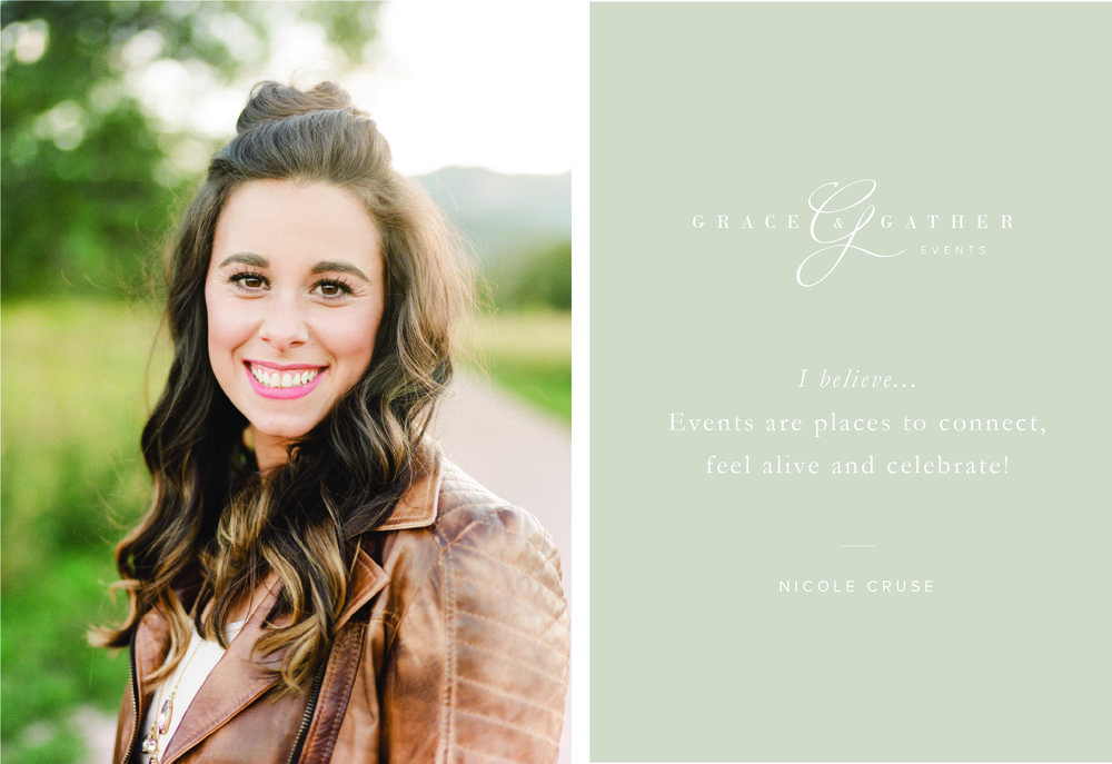 Colorado Wedding Planner, Grace and Gather Events Brand