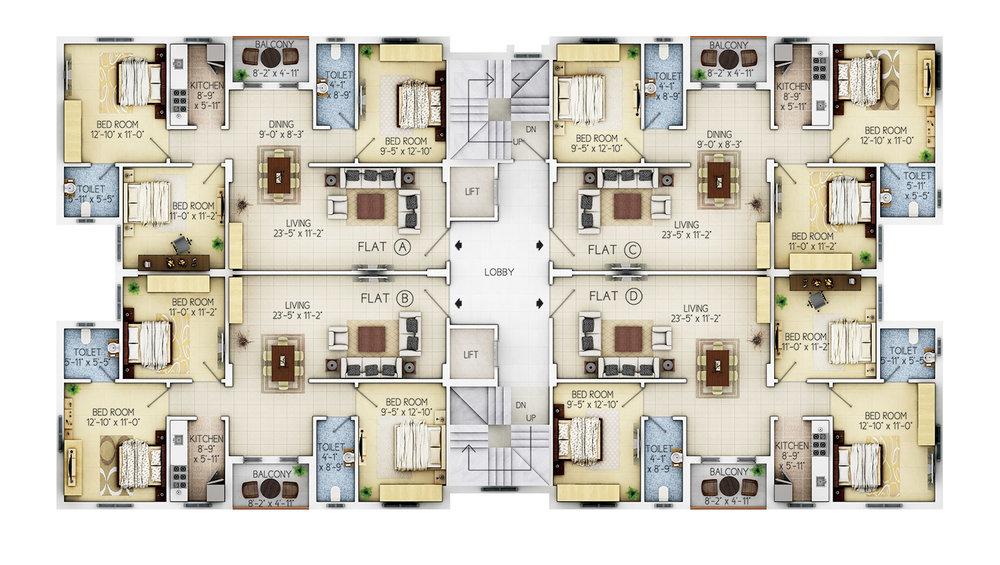 Floor Plan - 1st to 6th Floor