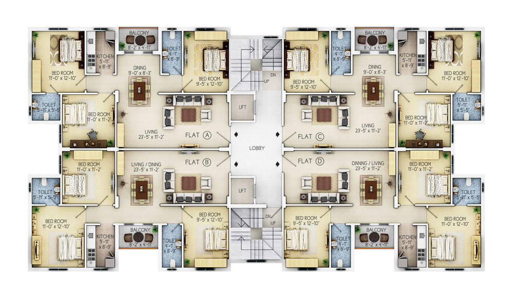 Floor Plan - 1st to 6th