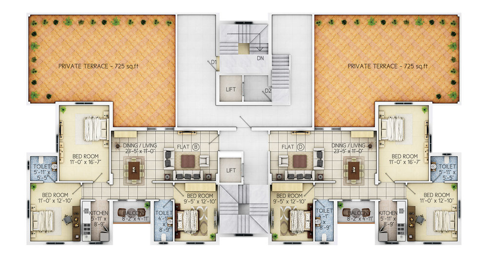 Floor Plan - 7th Floor