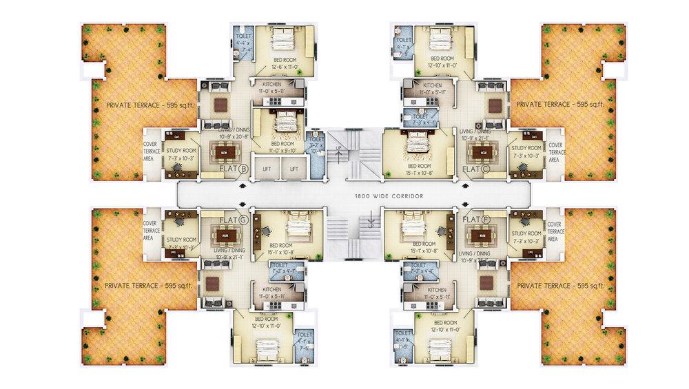 8th Floor - C3, C9, C10