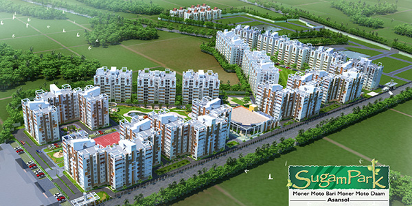 2 & 3 BHK: 740 - 1229 sq.ft. starting at Rs. 15.87 Lacs | Asansol, West Bengal