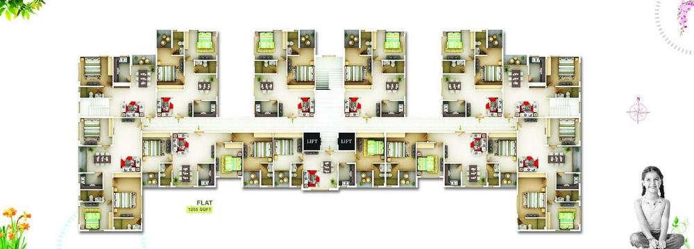 Block B 1st to 4th floor