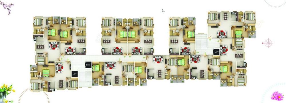 Block D  typical floor plan