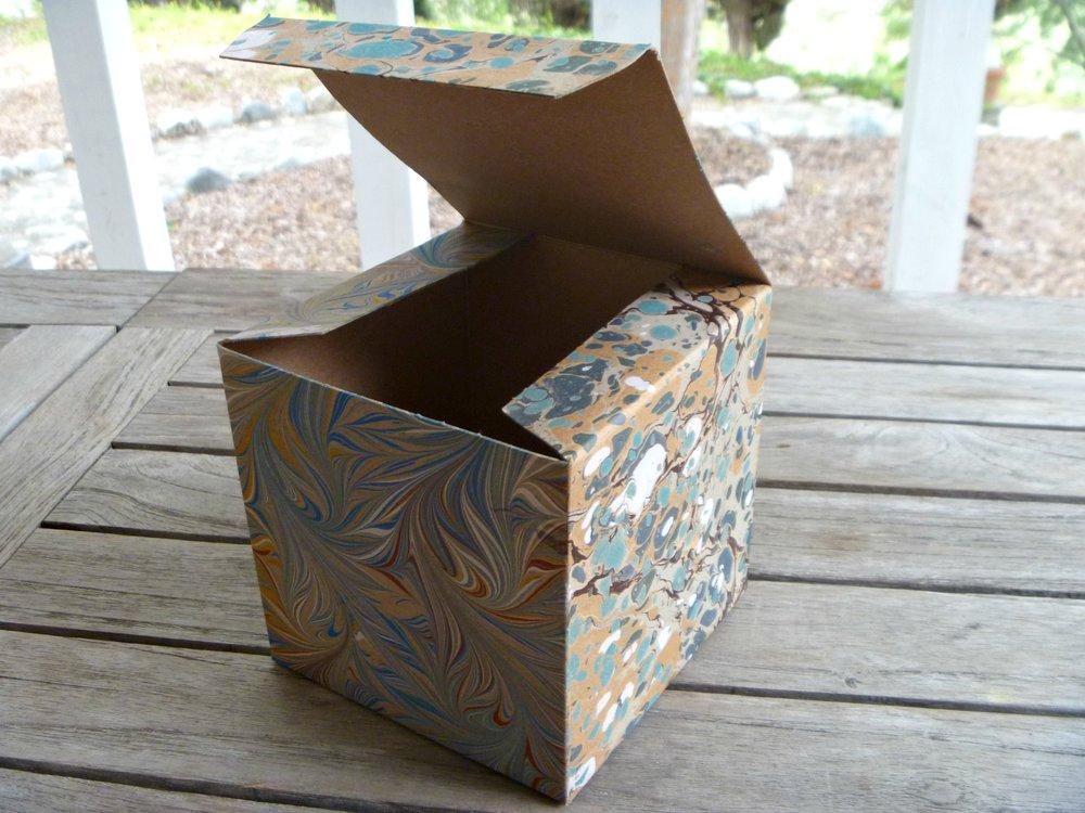 Marbled Kraft Box