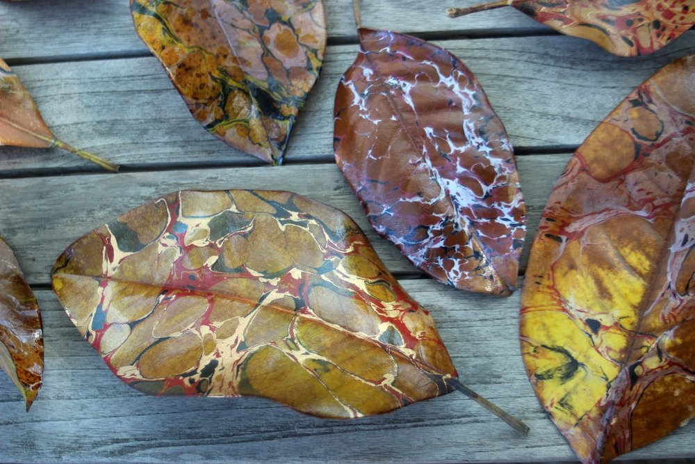 Marbled Leaves