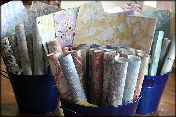 Marbled Newsprint (wrapping paper)