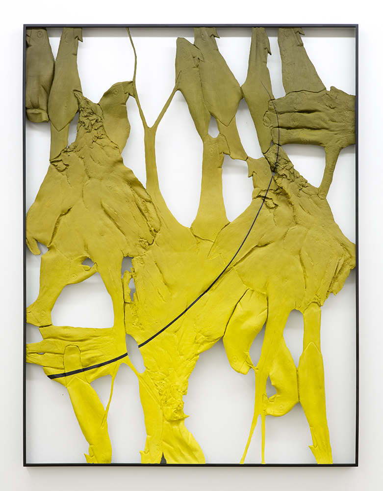 Legacy 1 , Oil paint, spray paint, urethane resin, epoxy, wood, powder-coated aluminum frame, 48 x 36 in., 2014