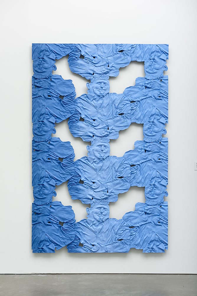 Dr. Eric Lander, Geneticist 2 , Oil paint, acrylic paint, urethane resin, epoxy, fiberglass, foam, wood framing, 92 x 60 in., 2017