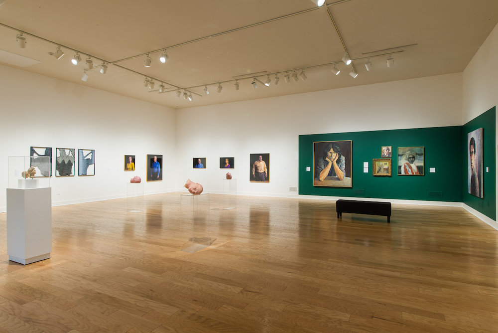 Installation View - PEOPLE WATCHING: THEN AND NOW , Philip Brou, Susan White Brown, Caleb Cole, Nayda Cuevas, Leslie Graff, Lavaughan Jenkins, Lucy Kim, Steve Locke, Ross Normandin, David Prifti, Kate Russo, Ann Strassman, and Tabitha Vevers