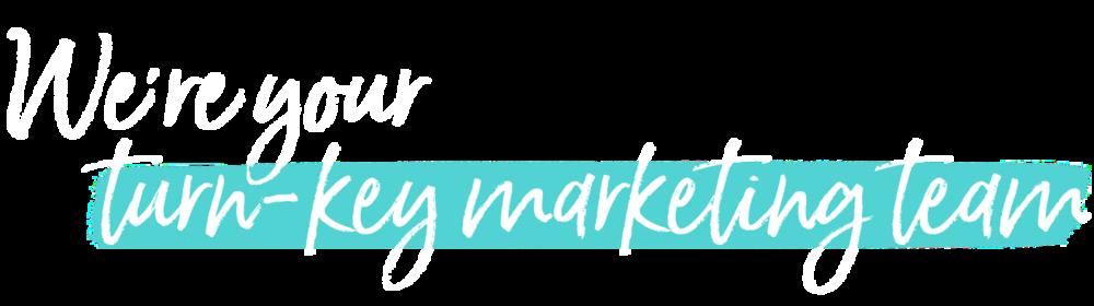 We're Your Turn-Key Marketing Team