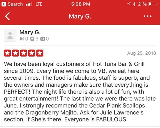 Thank you for awesome review on #yelp #virginiabeach
