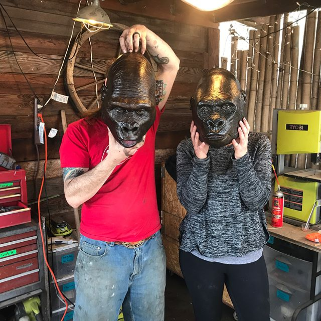 Spent the last 4 saturdays with incredible special effects artist and finalist from SYFY's Faceoff @georgetroester learning the ways of creature creation! Bucket list item checked off. Thank you @taylortoohey for the most thoughtful and memorable anniversary present EVER! #somuchfun #imhooked #5years