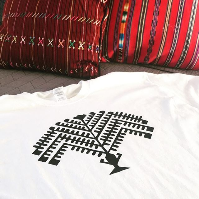 Alex cut our symbol out by hand and screen printed it! It looks amazing!! . . . #bags #boho #ethnic #huipil #guatemala #newmexico #albuquerque #santafe #handmade #handwoven #fall #style #goods #fairtrade #mayan #colorful #cotton #smallbusiness #supportsmallbusiness #newmexican #nmtrue #calabasaimports #tshirts #rad