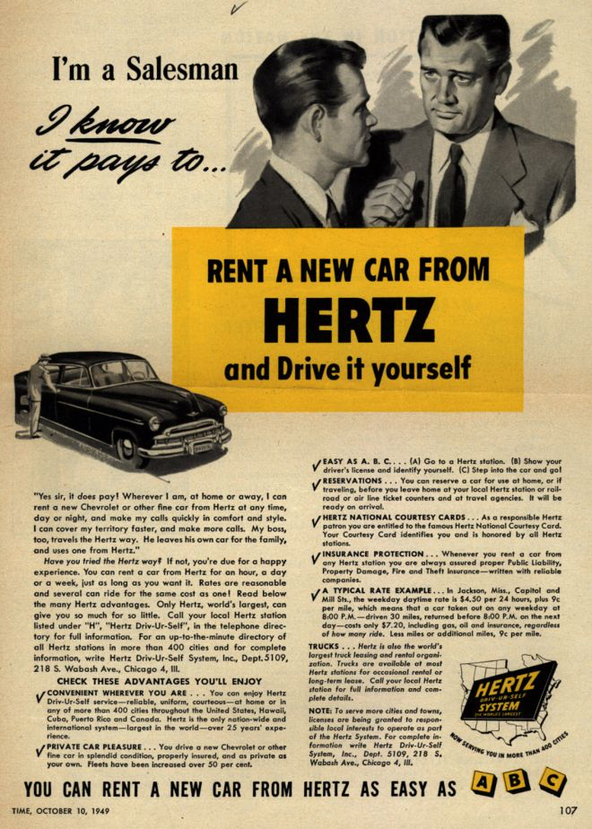 Hertz - A Big Player in a Changing Industry   Hertz is the largest vehicle rental service in the US and has been in service for over 100 years. As a service industry leader they strive to meet their customers' needs. Those needs are changing and Hertz must innovate to meet them.
