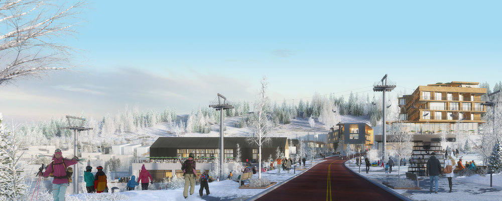 The Village - The 4.5 acre mixed use Main Street developmentfeatures 224,000 square feet of condos, hotels,main street commercial, conference center,infrastructure, and new ski lifts.