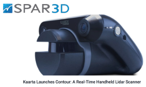 SPAR 3D    Kaarta Launches Contour: A Real-Time Handheld Lidar Scanner