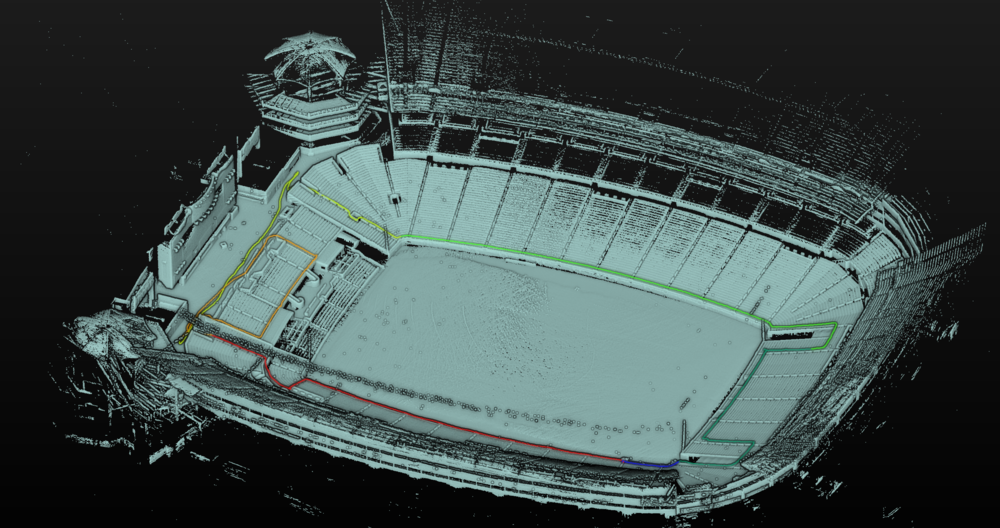 Heinz Field scanned with Stencil in a single pass