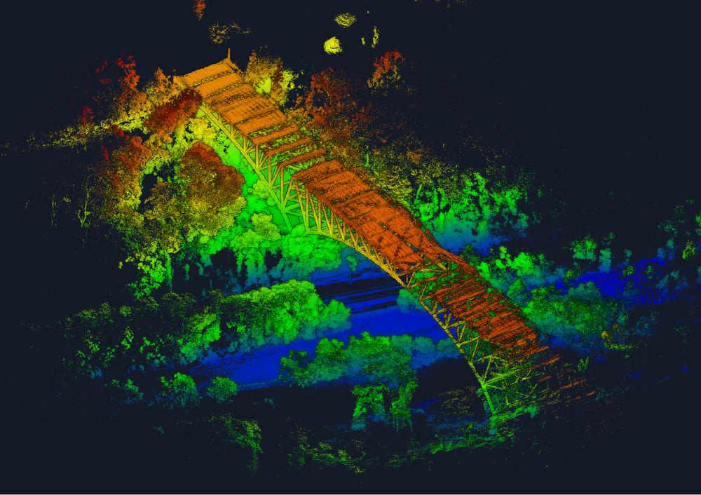 Charles Anderson Bridge - color denotes elevation