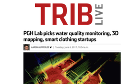 TribLive    PG    HLab picks water quality monitoring, 3D mapping, smart clothing startups
