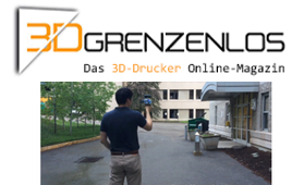 3D Grenzenlos 3D-Handscanner Contour generiert 3D-Modelle der Umgebung
