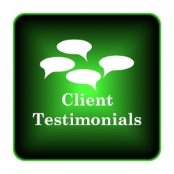 Click button for testimonials!