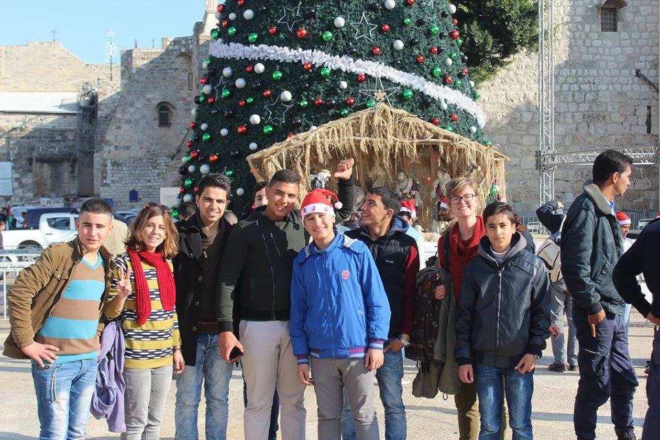 A field trip to Bethlehem before Christmas organized entirely by the students for us teachers