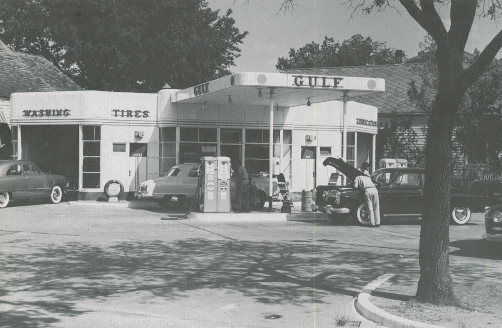 The early years: Gulf station in Bellaire, Texas