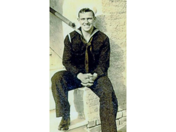 Don Morris during his days as a Seabee