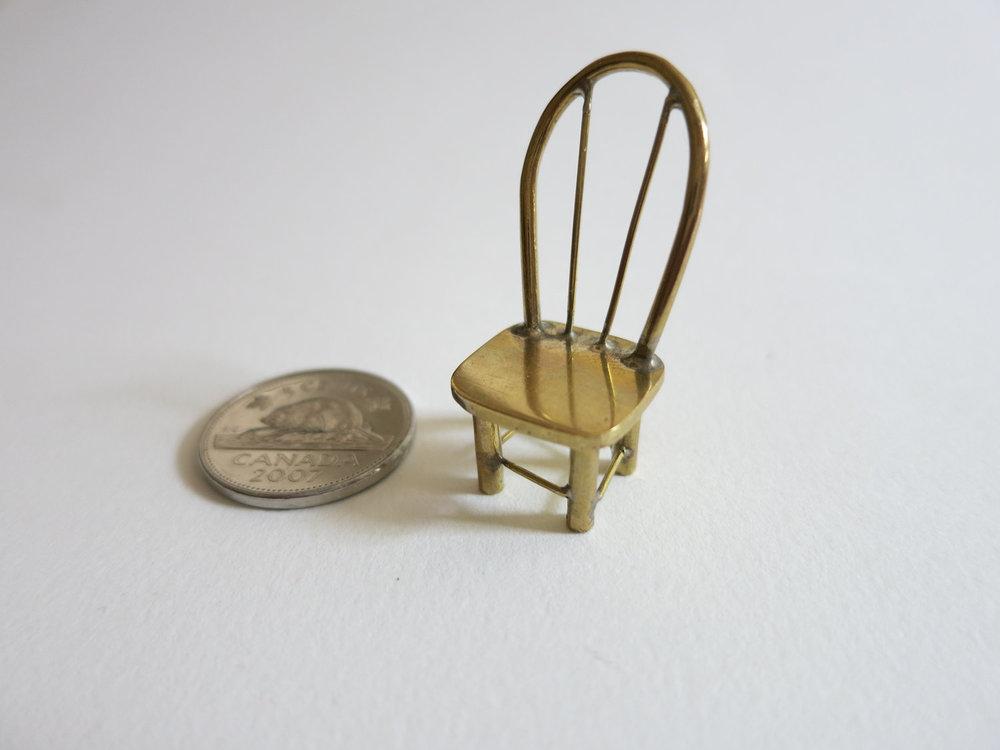 Chaise en laiton  soudure à l'argent