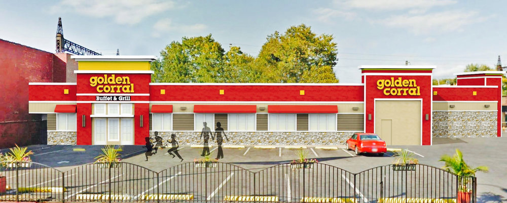 Rendering of Golden Corral Bronx, NY - Spring 2017